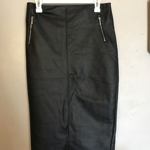 Women's Mossimo Faux leather pencil skirt